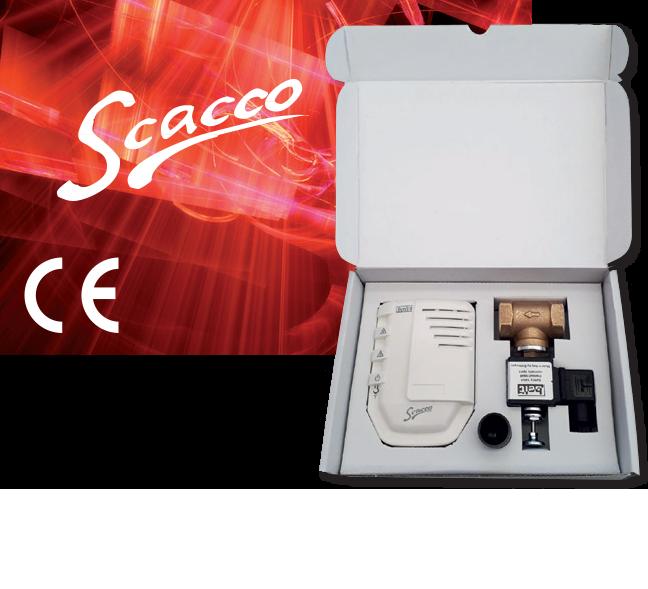 Комплект сигнализатор загазованности SCACCO + Электромагнитные клапаны 400RM